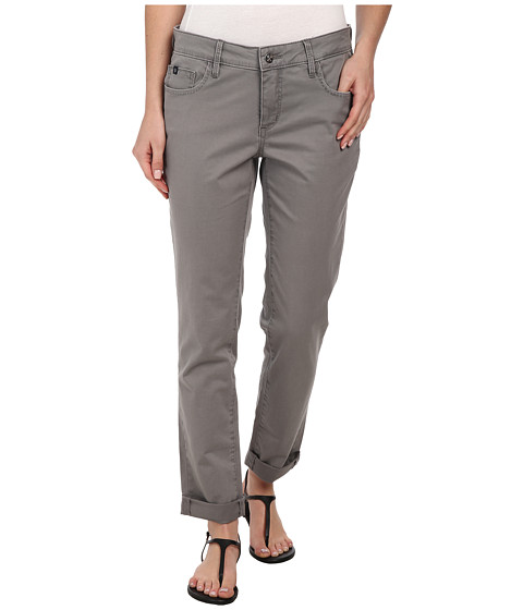Christopher Blue - Diane Roll Boyfriend Carmel Twill (Cool Grey) Women's Casual Pants