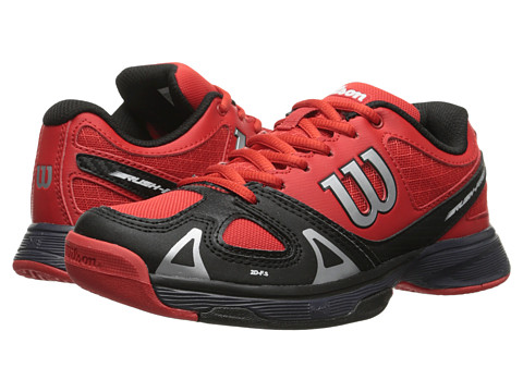 Wilson Kids - Rush Pro Junior (Little Kid/Big Kid) (Red/Black/Coal) Kids Shoes