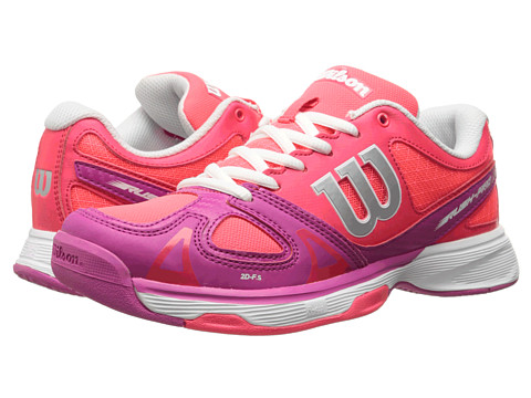 Wilson Kids - Rush Pro Junior (Little Kid/Big Kid) (Neon Red/Pink) Girls Shoes