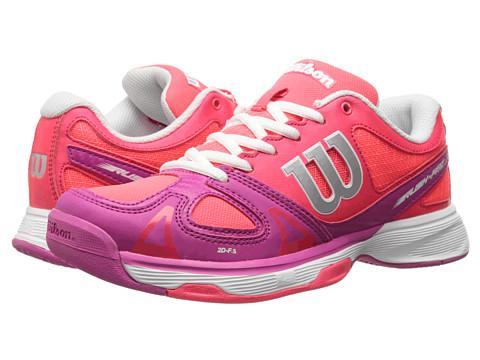Wilson Kids - Rush Pro Junior (Little Kid/Big Kid) (Neon Red/Pink) Girls Shoes