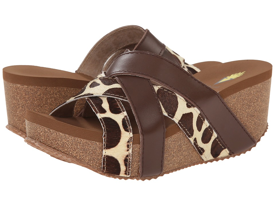 VOLATILE - Force (Brown/Multi) Women's Wedge Shoes