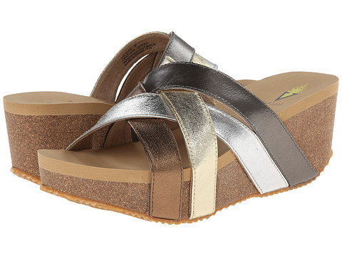 VOLATILE - Alyssa (Metallic/Multi) Women's Wedge Shoes