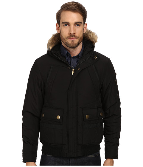English Laundry - Nylon Bomber (Black) Men's Coat