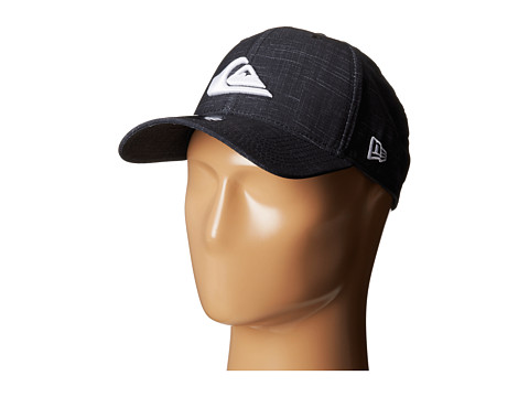 Quiksilver - Amphibian Texture Stretch Fit Hat (Black) Caps