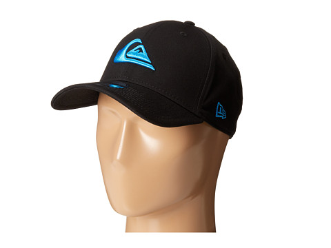 Quiksilver - Mountain and Wave Stretch Fit Hat (Black) Caps