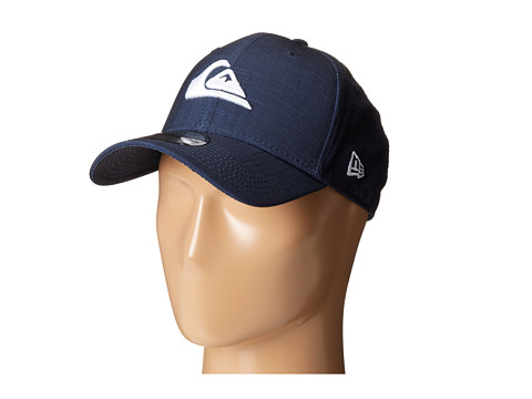 Quiksilver - Amphibian Texture Stretch Fit Hat (Navy Blazer) Caps