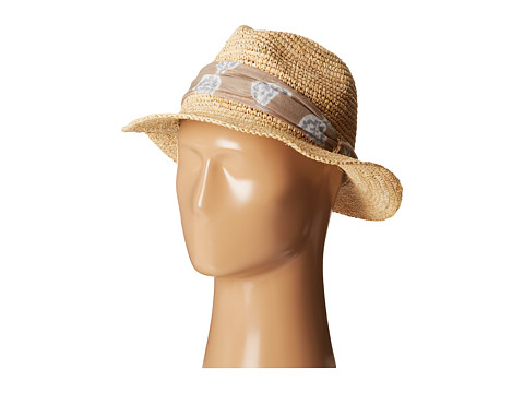 Hat Attack - Fem Fedora (Natural/Taupe Teardrop) Fedora Hats