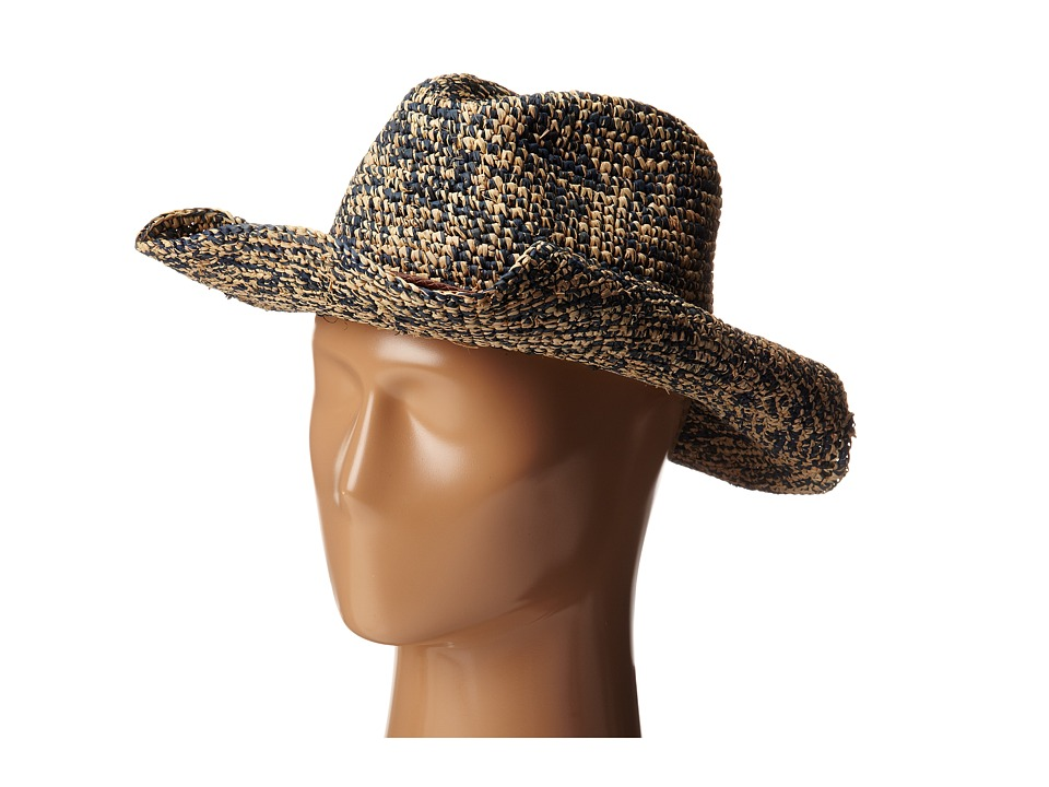 Hat Attack - Raffia Crochet Cowboy (Navy Mix/Tobacco Tubular Cord) Traditional Hats