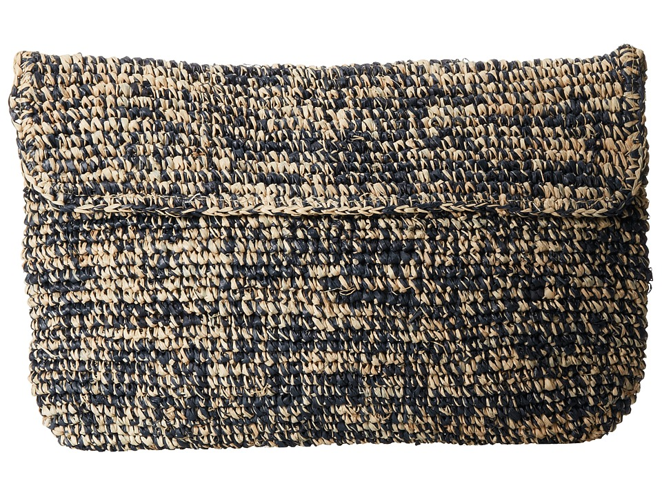 Hat Attack - Raffia Crochet Clutch (Navy Mix) Clutch Handbags