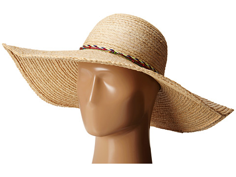 Hat Attack - XL Brim Raffia Braid Sunhat (Natural/Multi Cord) Traditional Hats