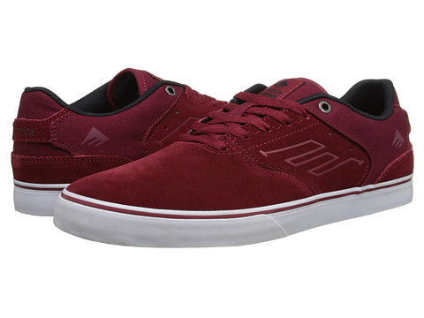 Emerica - The Reynolds Low Vulc (Burgundy) Men's Skate Shoes