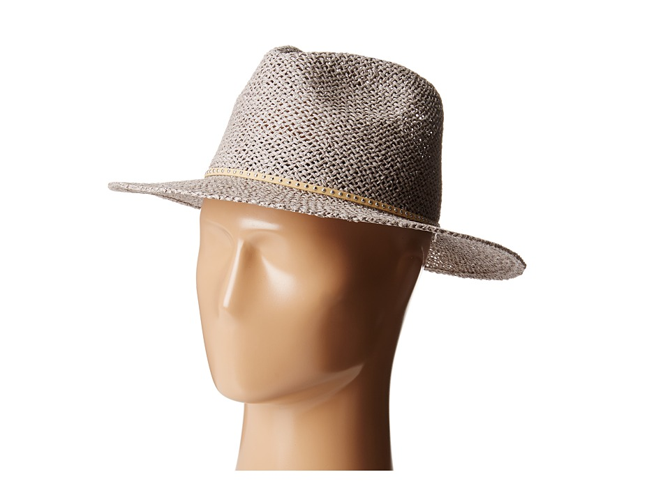 Hat Attack - Twisted Weave Continental (Grey Silver/Leather Stud) Traditional Hats