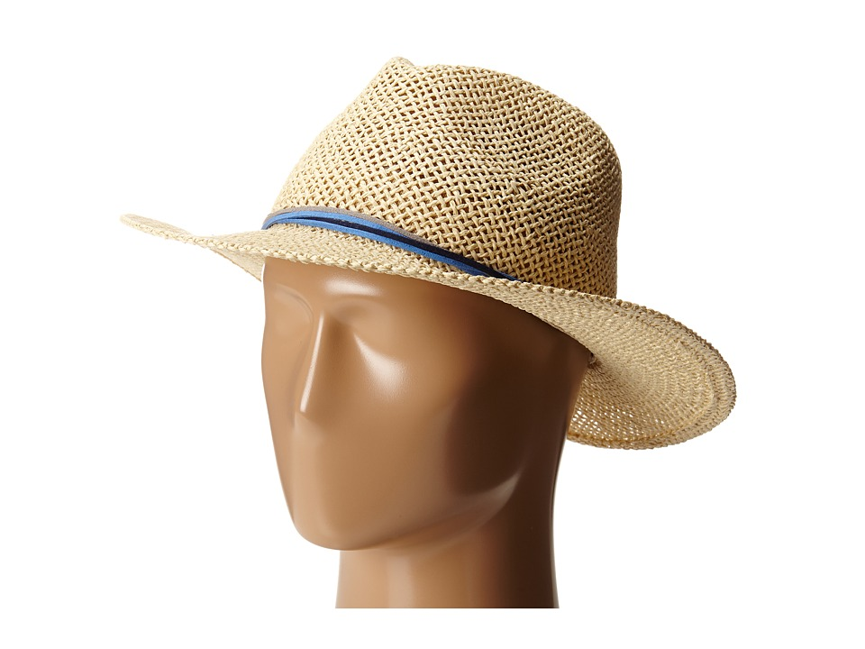 Hat Attack - Twisted Weave Continental (Natural/Blue Strands) Traditional Hats
