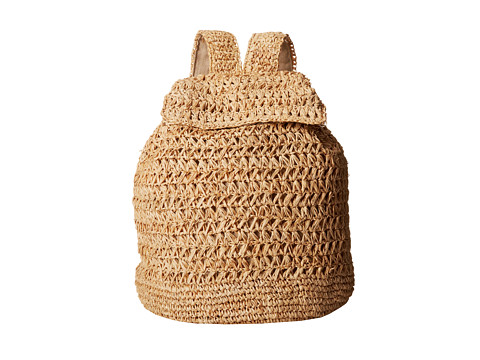 Hat Attack - Raffia Backpack (Natural 1) Backpack Bags