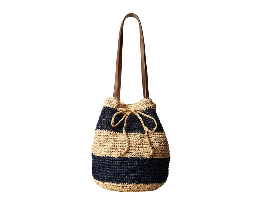 Hat Attack - Slouchy Hobo (Navy/Natural) Cross Body Handbags