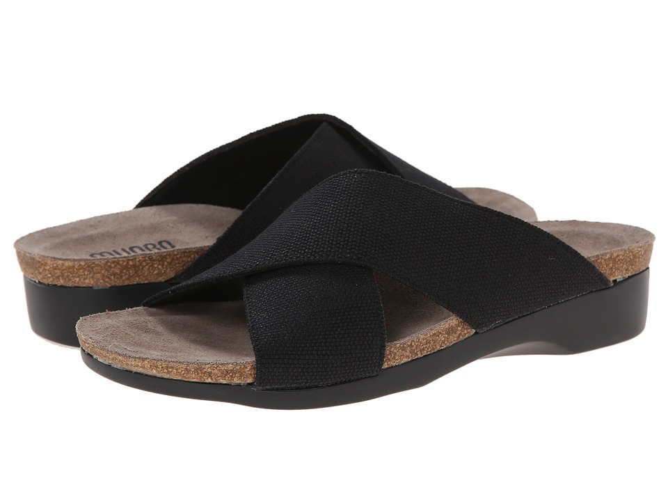 Munro - Gia (Black Fabric) Women's Slide Shoes