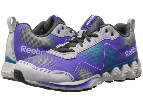 Reebok - ZigKick Wild (Steel/Flat Grey/Ultimate Purple/Engilsh Emerald) Women's Running Shoes
