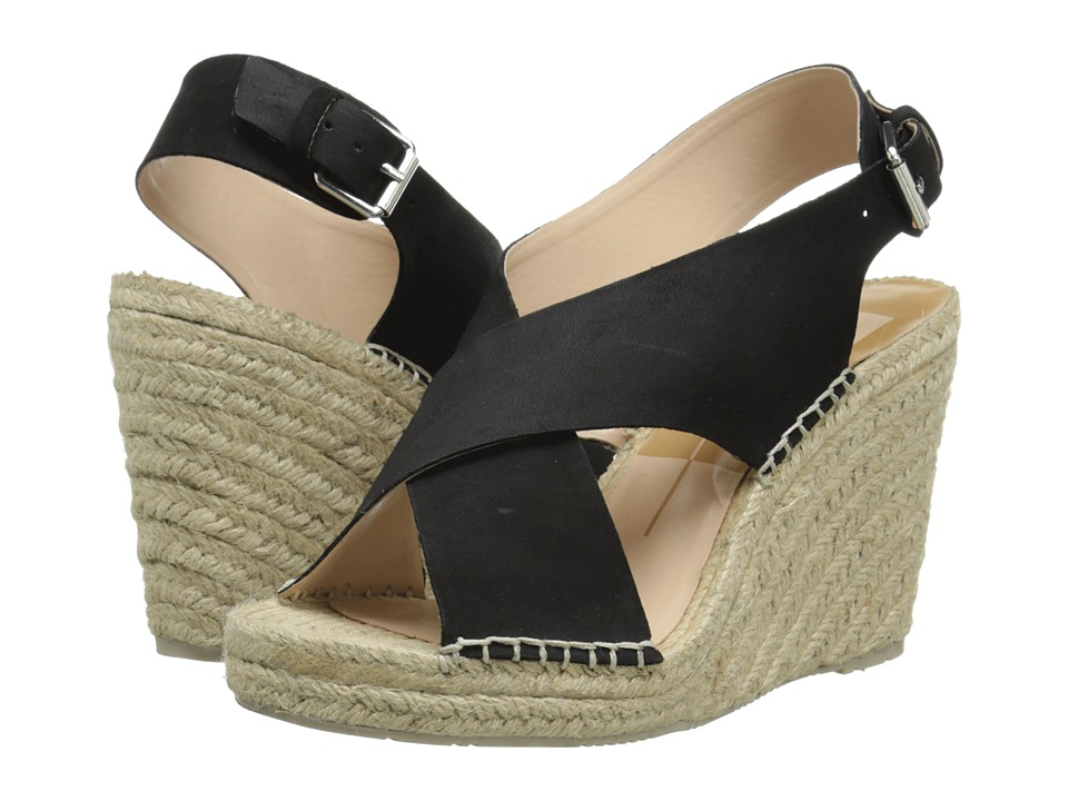 Dolce Vita - Sovay (Black Nubuck) Women's Wedge Shoes
