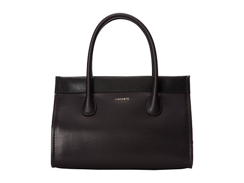 Lacoste - Institutionelle Small Shopping Bag (After Dark Black Coffee) Tote Handbags