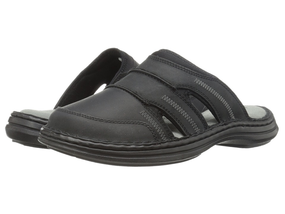 Hush Puppies - Relief Mule (Black Leather) Men's Clog/Mule Shoes
