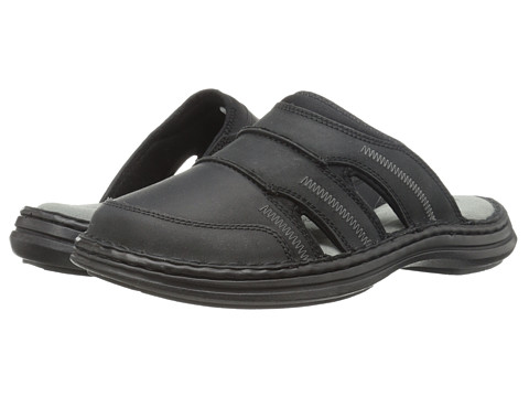 Hush Puppies - Relief Mule (Black Leather) Men