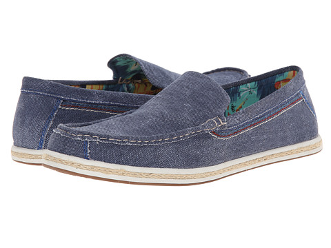 Hush Puppies - Ashton Barlow (Navy Canvas) Men's Slip on Shoes
