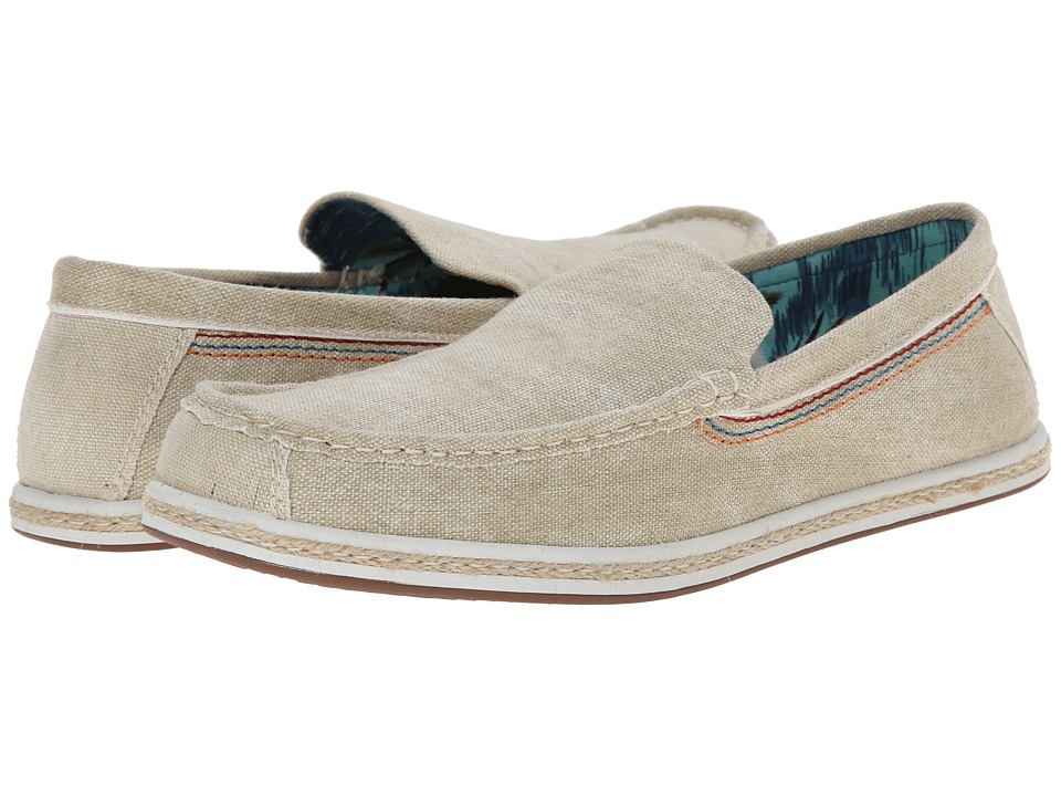 Hush Puppies - Ashton Barlow (Natural Canvas) Men's Slip on Shoes