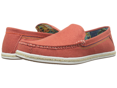 Hush Puppies - Ashton Barlow (Red Canvas) Men's Slip on Shoes