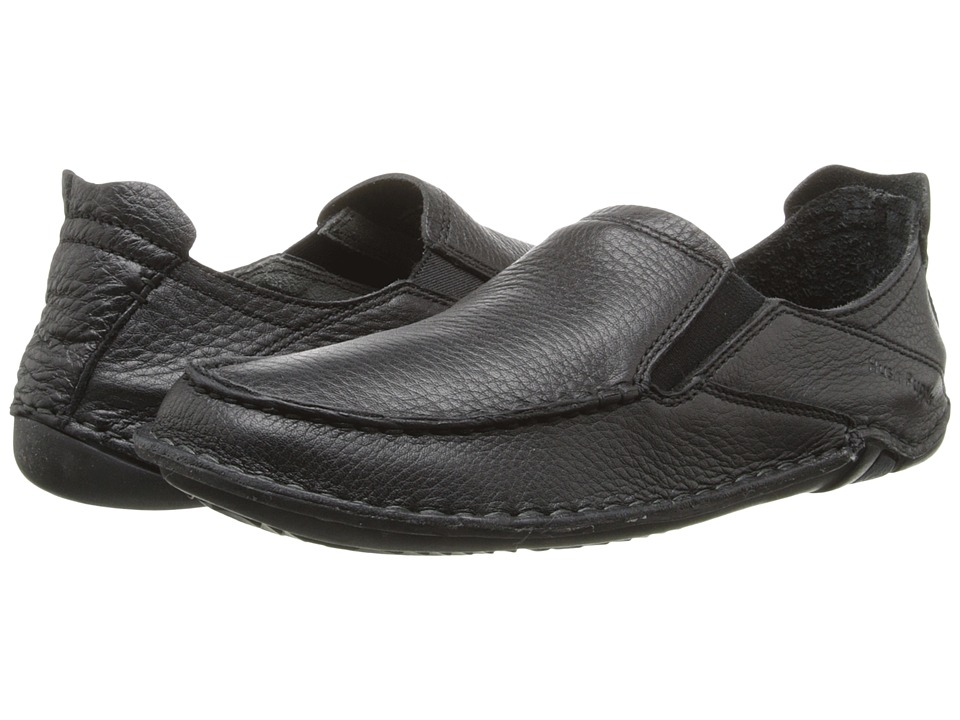 Hush Puppies - Keenan Roller (Black Leather) Men's Slip on Shoes