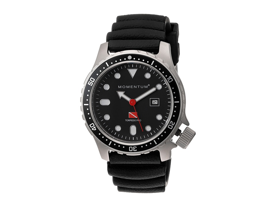 Momentum by St. Moritz - Momentum Torpedo Pro (Black/Rubber) Watches