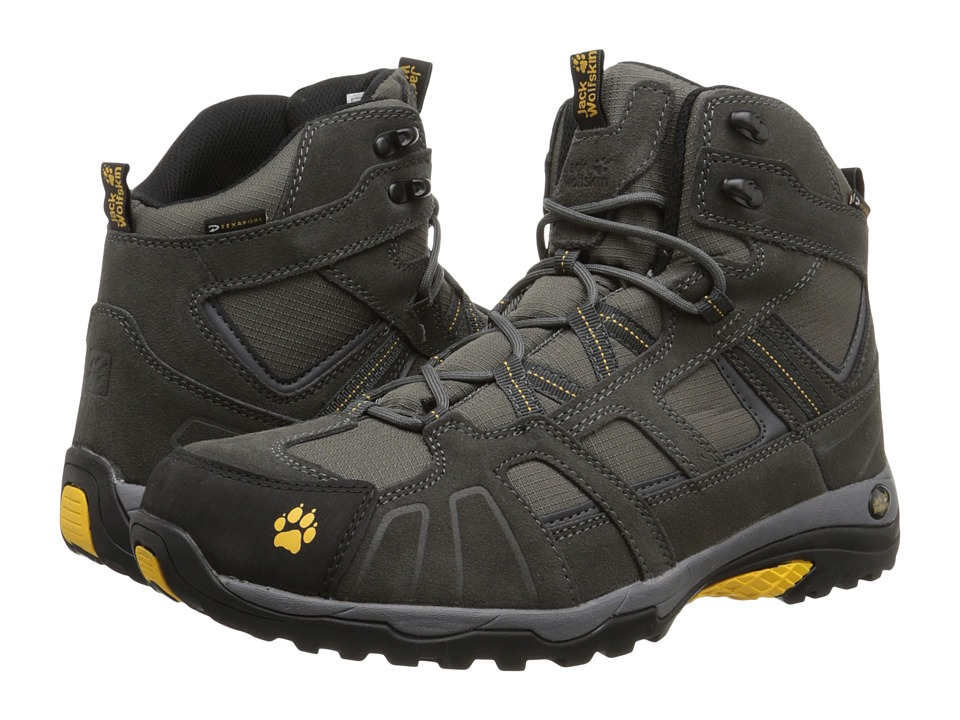 Jack Wolfskin - Vojo Hike Mid Texapore (Burly Yellow) Men's Shoes