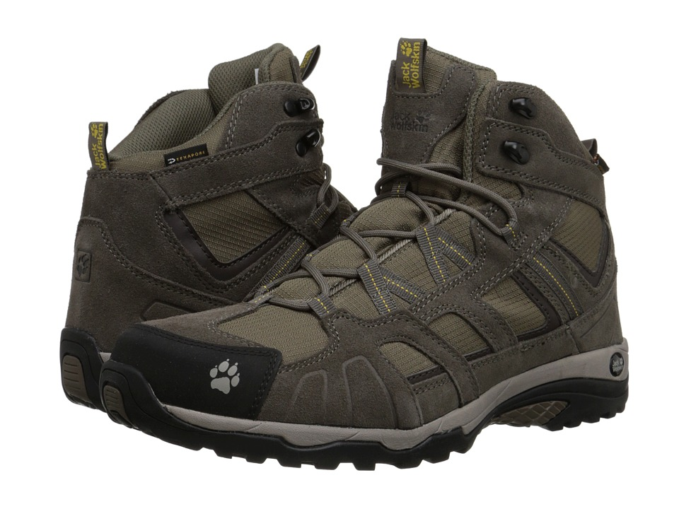 Jack Wolfskin - Vojo Hike Mid Texapore (Dark Sulphur) Men's Shoes