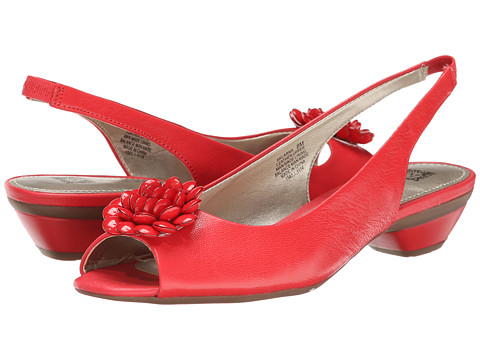 Anne Klein - Larna (Red Leather) Women's Flat Shoes