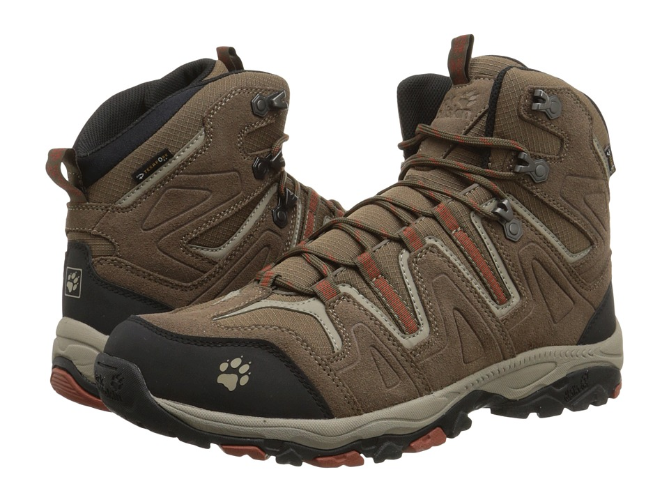 Jack Wolfskin - Mountain Attack Mid Texapore (Earth Orange) Men's Shoes