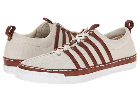 K-Swiss by Billy Reid - Arlington CL (Turtledove Canvas/Cinnamon Leather) Men's Shoes