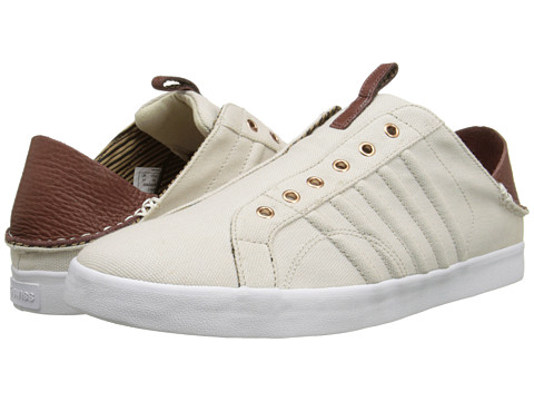 K-Swiss by Billy Reid - Belmont SLO CL (Turtledove Canvas/Cinnamon Leather) Men's Shoes