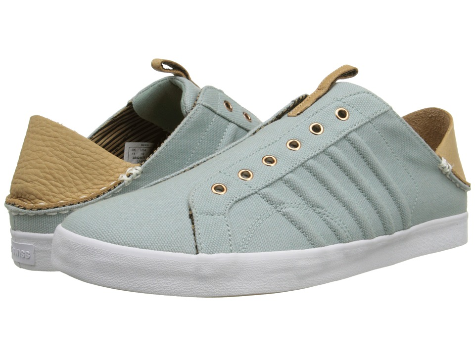 K-Swiss by Billy Reid - Belmont SLO CL (Blue Surf Canvas/Sheepskin Leather) Men