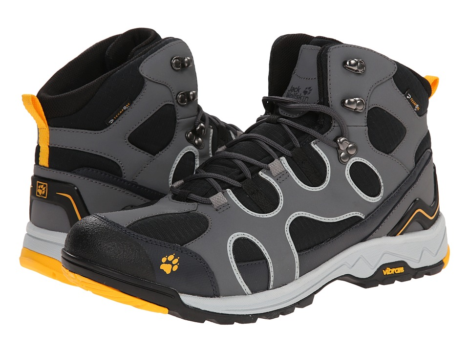 Jack Wolfskin - Crosswind Texapore O2+ Mid (Burly Yellow) Men's Shoes