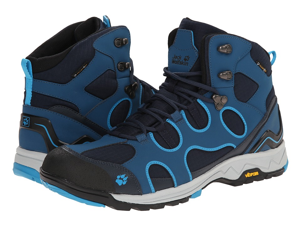Jack Wolfskin - Crosswind Texapore O2+ Mid (Moroccan Blue) Men's Shoes