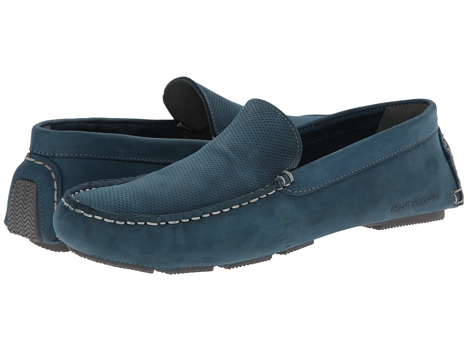 Hush Puppies - Monaco Slip On MT (Navy Perf Leather) Men's Moccasin Shoes