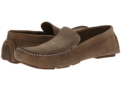 Hush Puppies - Monaco Slip On MT (Light Olive Perf Leather) Men's Moccasin Shoes