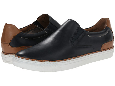 Hush Puppies - Tucker Nicholas (Navy Leather) Men's Slip on Shoes