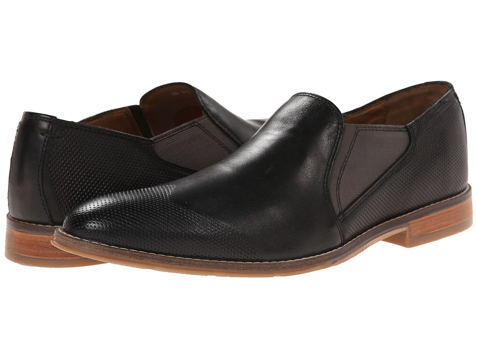 Hush Puppies - Olaf Style (Black Leather) Men