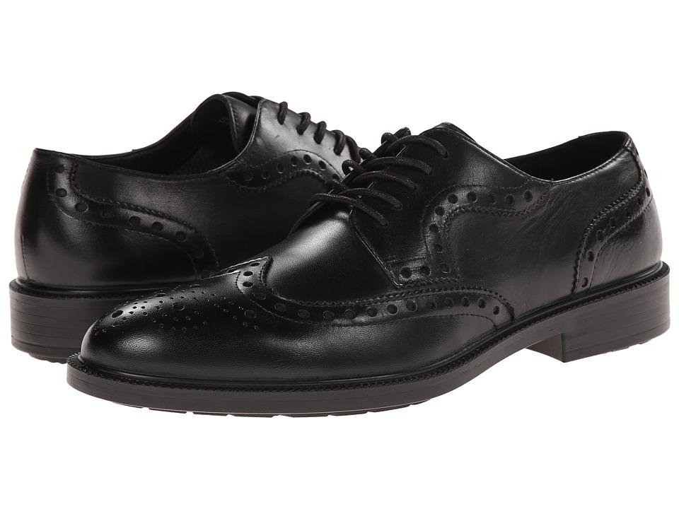 Hush Puppies Issac Banker (Black WP Leather) Men