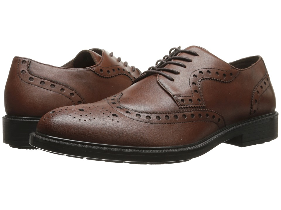 Hush Puppies - Issac Banker (Dark Brown WP Leather) Men's Lace Up Wing Tip Shoes