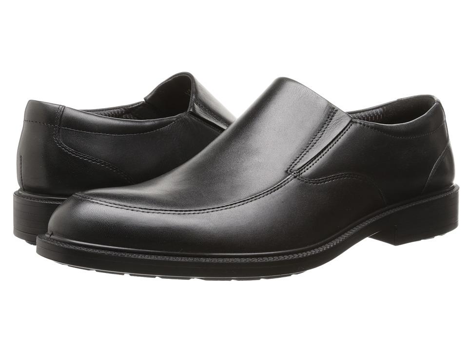 Hush Puppies - Irving Banker (Black WP Leather) Men's Slip-on Dress Shoes
