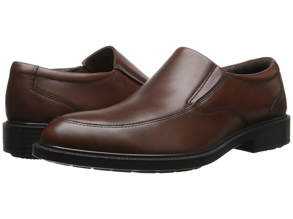 Hush Puppies - Irving Banker (Dark Brown WP Leather) Men's Slip-on Dress Shoes