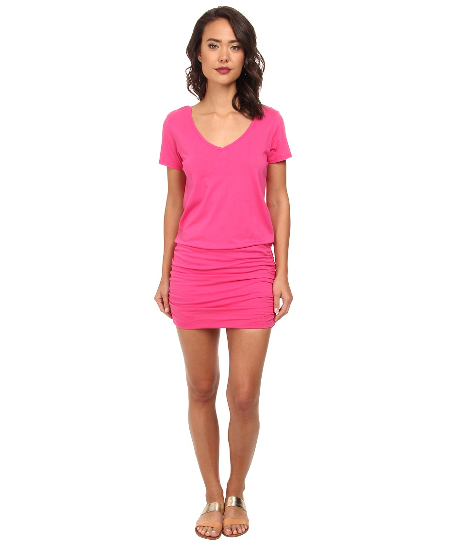 Michael Stars - Short Sleeve V-Neck Dress (Fruit Punch) Women