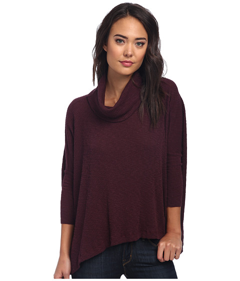 Free People - World Traveler Pullover (Blackberry) Women