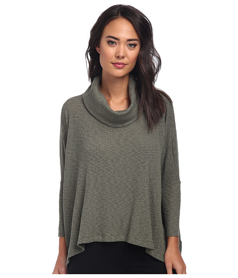 Free People - World Traveler Pullover (Army) Women's Long Sleeve Pullover